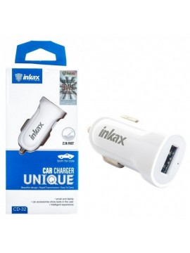 Chargeur voiture INKAX CC-32 2.1A FAST BLANC